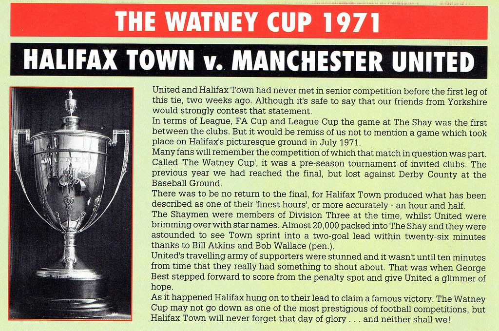 (Programme) 10-10-1990 Manchester United 2-1 Halifax Town (League Cup) 5