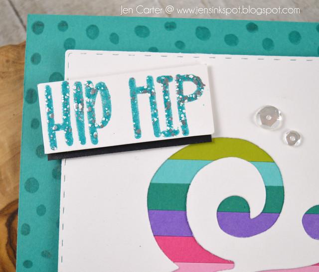 Jen Carter Hip hip and Hooray CP Ampersand rainbow closeup 1