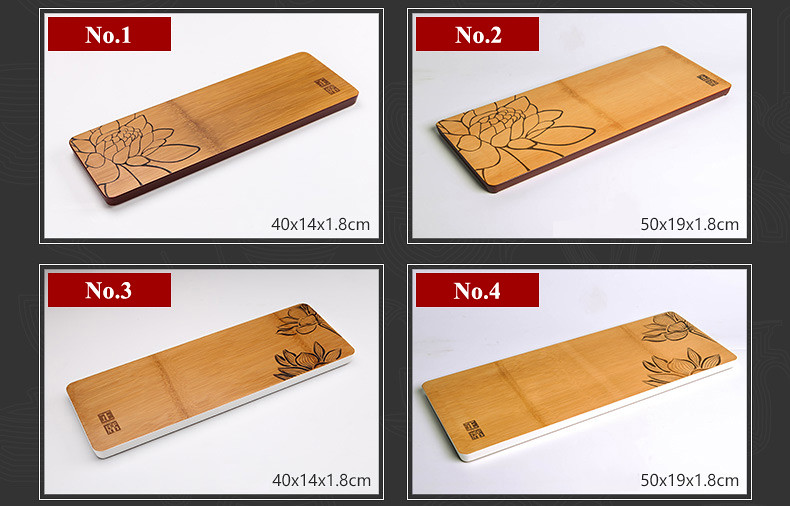 One Piece Bamboo Tea Tray 7 Variations