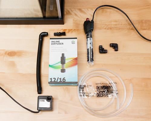Inline CO2 Diffuser DIY project for Fluval Spec V Aquarium