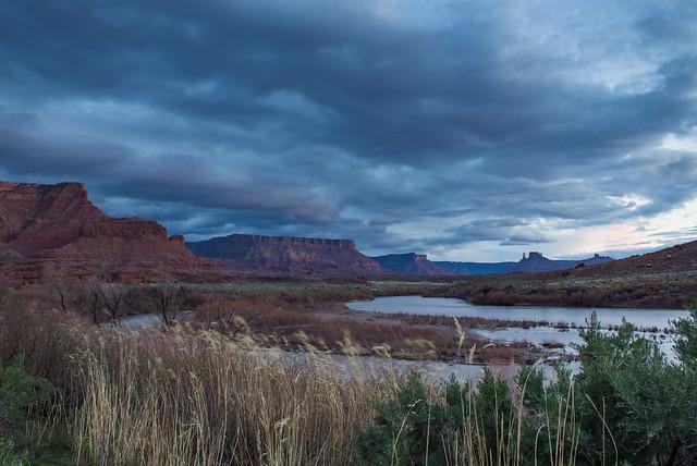 Colorado River with Clouds