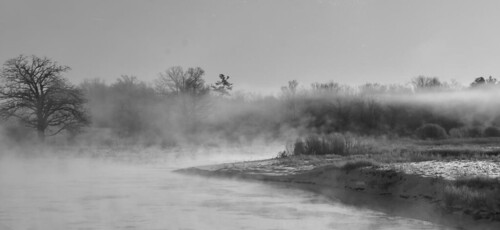 Photo Series: Landscapes: Nith River fog at -25C