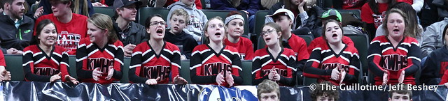 Kenyon-Wanamingo cheerleaders. 190228DJF0205