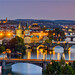Prague blue hour view by AdelheidS Photography