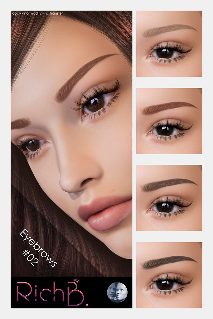 RichB  Eyebrows #02 - Skin Fair   maps secondlife com/second
