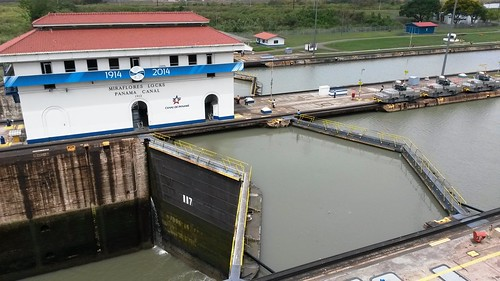 Miraflores Locks am Panama Kanal