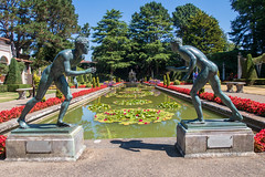 The Wrestlers of Herculaneum in the Grand Italian garden