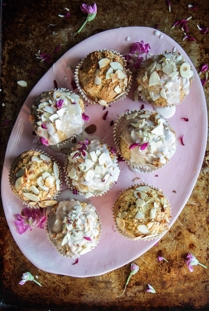 Almond Poppyseed Muffins (Gluten-free and Vegan) from HeatherChristo.com