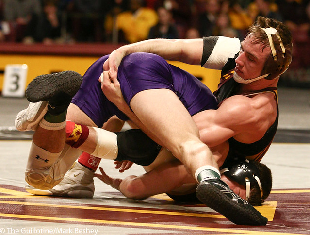 5th Place Match - Ryan Deakin (Northwestern) 29-4 won by major decision over Steve Bleise (Minnesota) 18-7 (MD 10-1) - 190310dmk0113