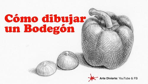 Cómo dibujar un bodegón - Naturaleza muerta - Pimentón y cebollas | by artedivierte