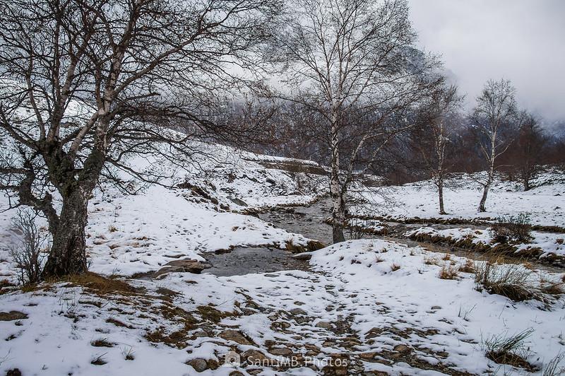 El Noguera Ribagorçana cerca de la boca sur del túnel de servicio de Vielha