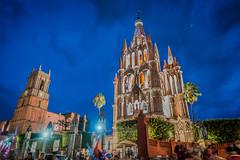 Church at Night San Miguel de Allende, Mexico