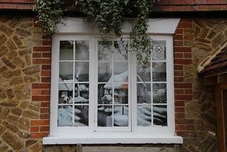 Pub window decoration - Thursley