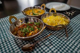 Kerala prawns and jaeera rice