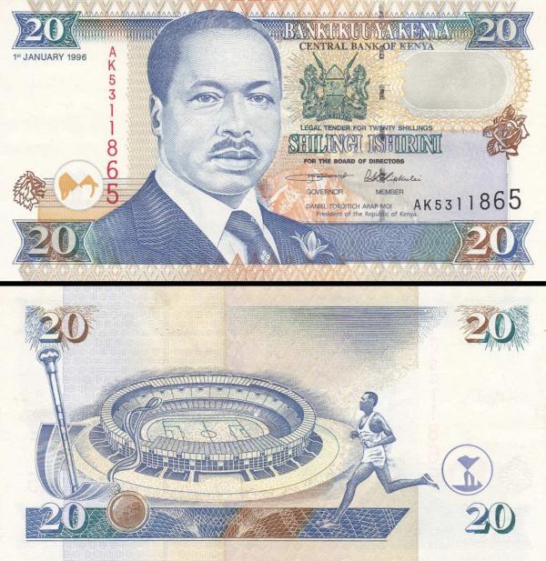 20 Šilingov Keňa 1996, P35a2