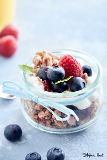 Berry fruits and yogurt