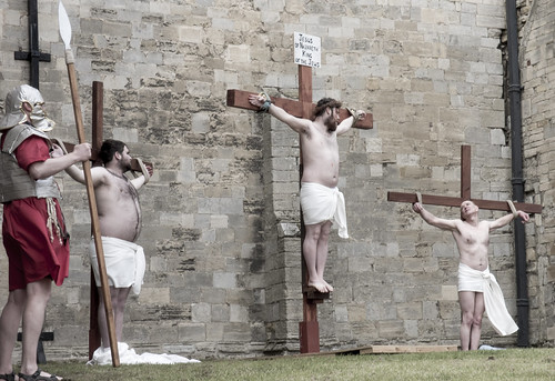 Crucifixion scene. | by Ray Duffill