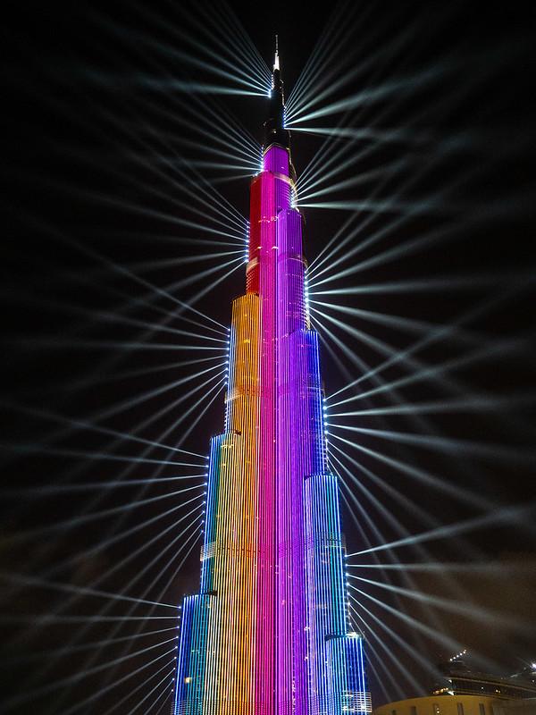 Burj Khalifa light show