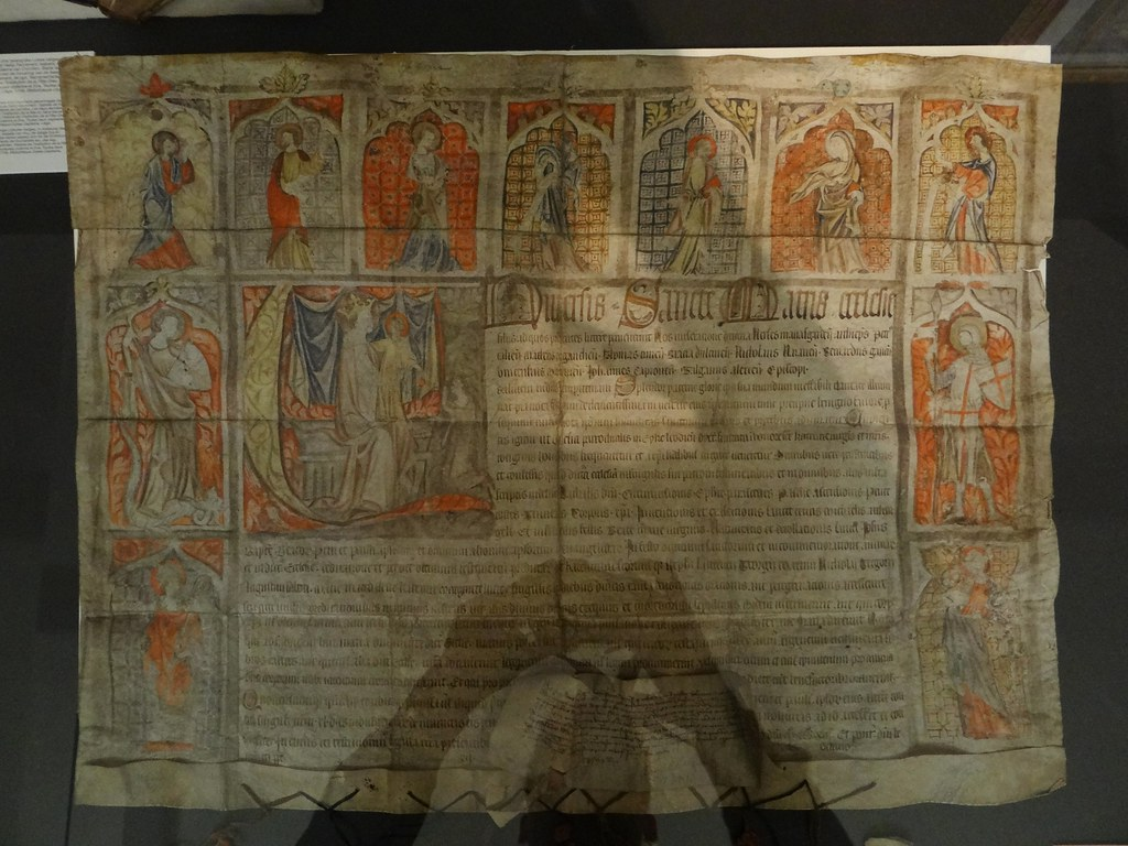 1342 - 'St  George and other saints, letter of indulgence