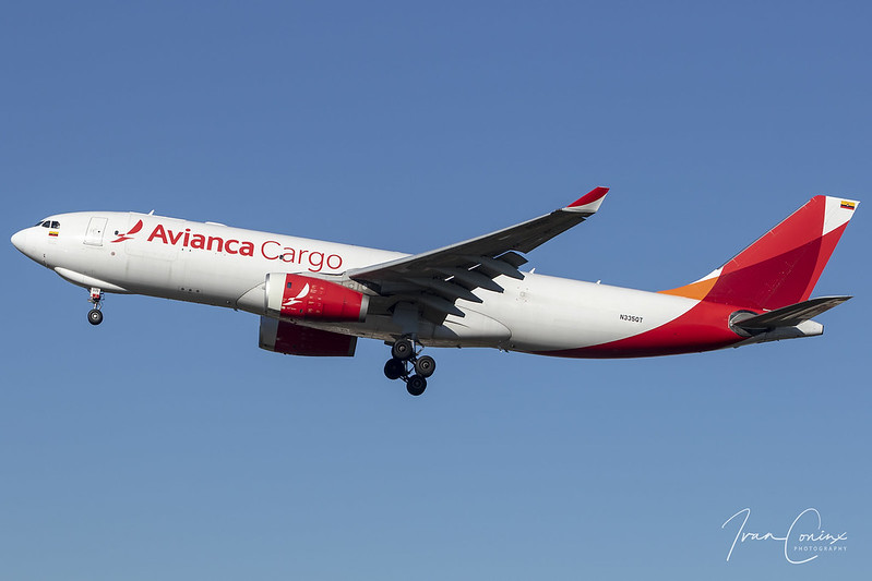Airbus A330-243F – Avianca Cargo – N335QT – Brussels Airport (BRU EBBR) – 2019 02 15 – Landing RWY 25L – 02 – Copyright © 2019 Ivan Coninx