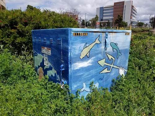 Painted Utility Box - UCSD Triton