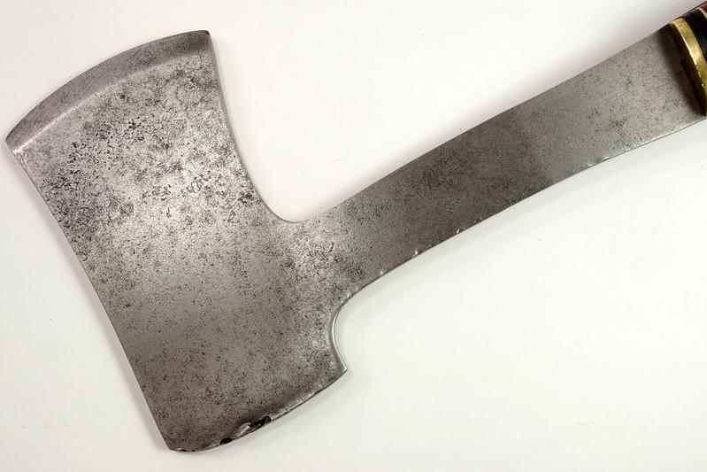 RD27730 Vintage The Coast Cutlery Axe Hatchet All Steel Leather Wrapped Handle Portland Oregon DSC09937