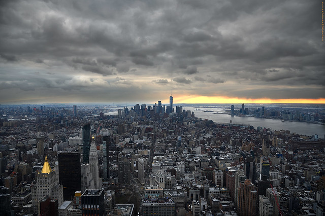 NYC - Fantasy at sunset on a cloudy day  # 027