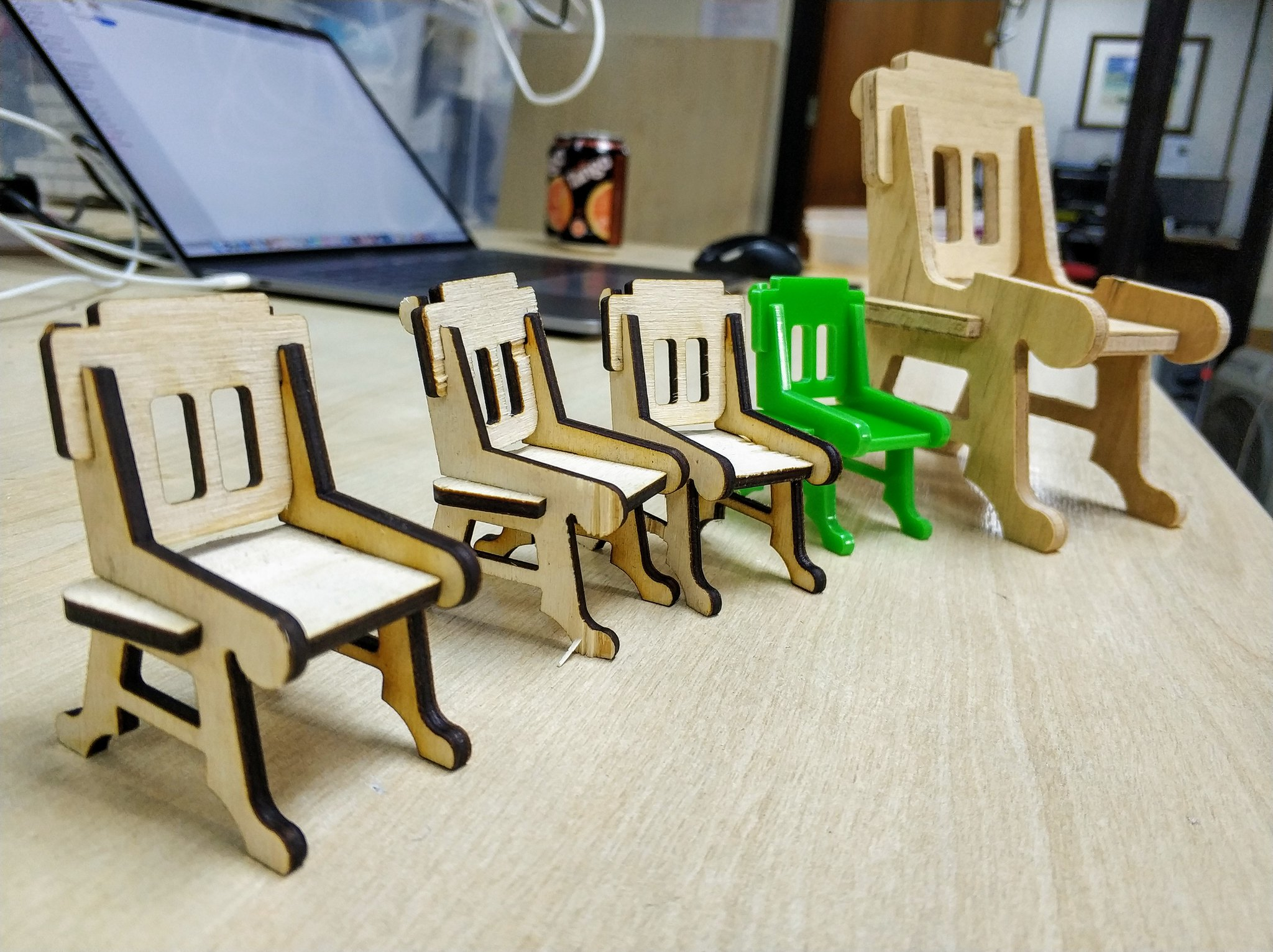 Laser and CNC cut chairs.