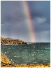 Rainbow, Falmouth Bay looking to Pendennis Point