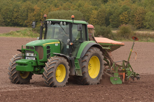 John Deere 6930 Tractor with an Amazone AD-PL302 Seed Drill & Power Harrow