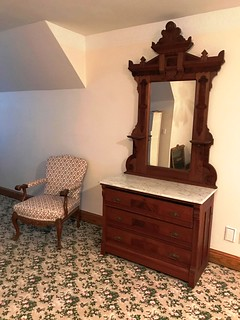 1880's Victorian Eastlake-style white marble top dresser | by thornhill3