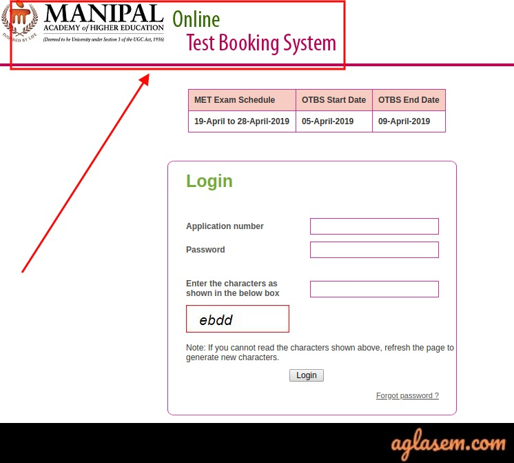 MU OET 2019 Slot Booking (Started): Manipal Online Test Booking System (OTBS) Instructions