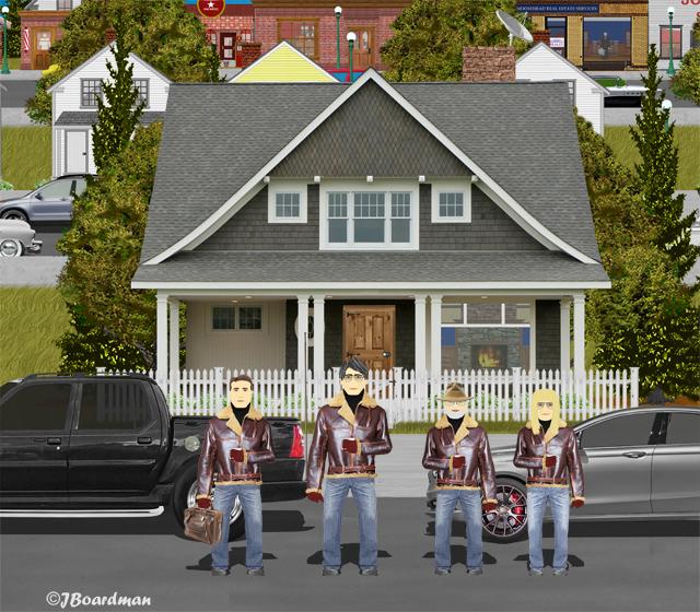 Chris & Boomer found Big A On Third Street ©Jack Boardman
