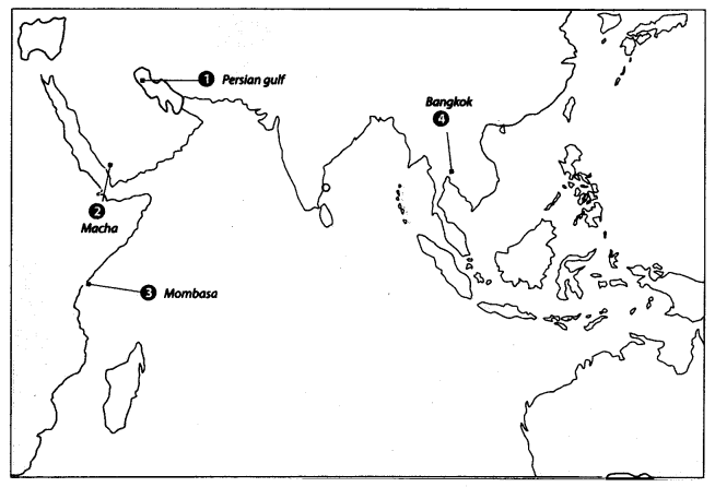 Class 10 History Map Work Chapter 4 The Making of Global World A6
