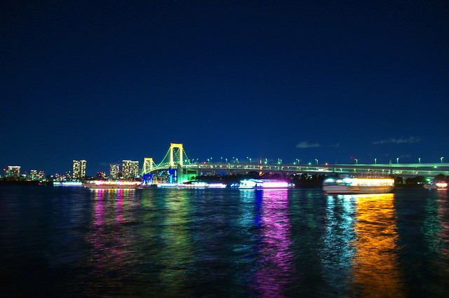 The night view of Tokyo from Odaiba Bay