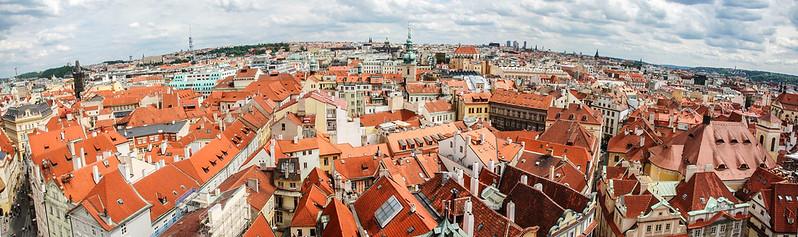 布拉格天文鐘鐘樓頂東、南向展望
