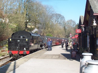 """Black Five"" loco 45212 at Oxenhope, K&WVR | by Tom Burnham"