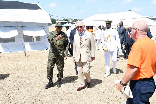 The Prince of Wales tours field medical facility (5) | by barbadosgovernmentinformationservice