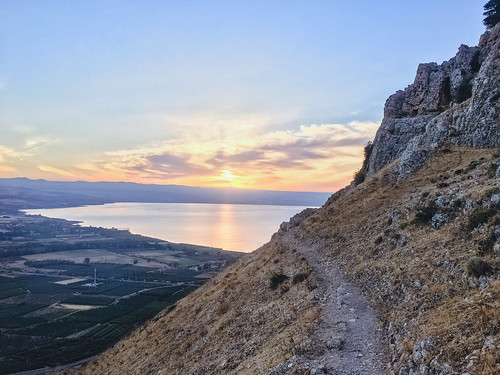 iphone sunrise seaofgalilee mountarbel iphone6s iphoneography landscape israel lake desert arbel mountain