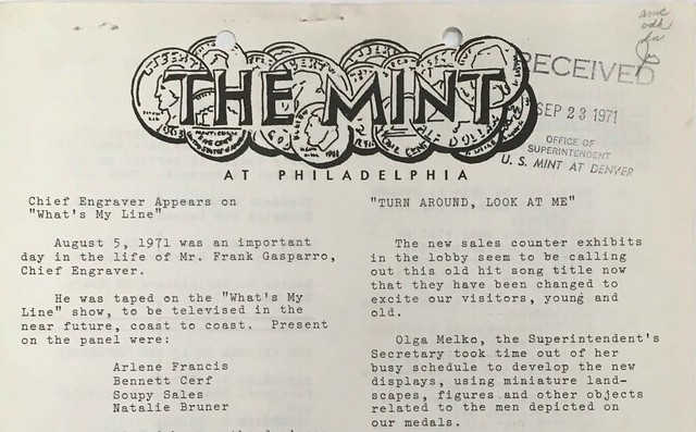 The Mint at Philadelphia newsletter masthead