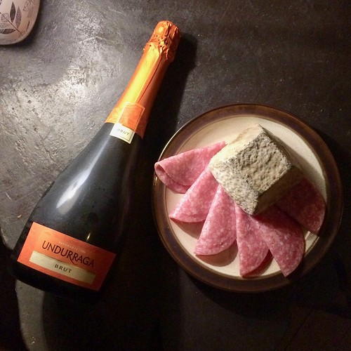 Undurraga Brut with Monte Azul Chirripo Negro | by WineAndCheeseFriday