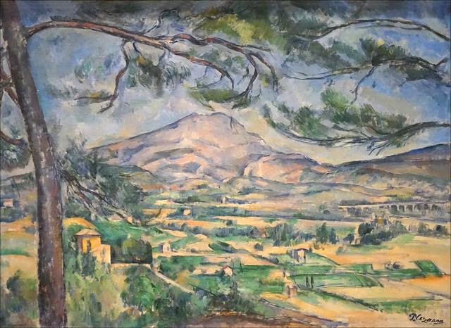 La Montagne Sainte-Victoire de P. Cézanne (Fondation Vuitton, Paris)