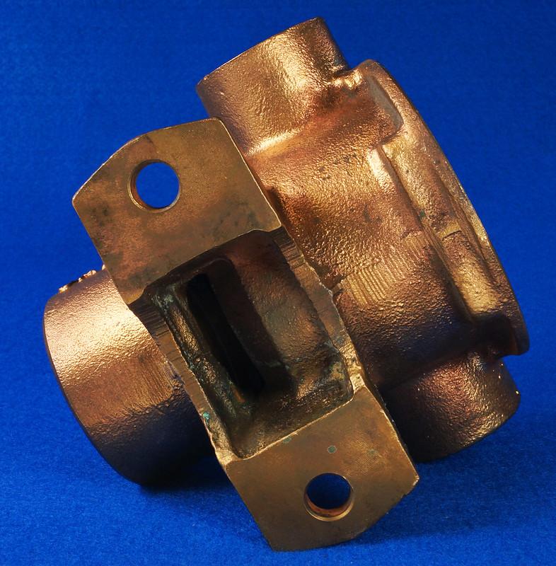 RD26699 Jabsco 2 inch Bronze Pedestal Pump Housing & Plate Only #18370-0000 DSC08798