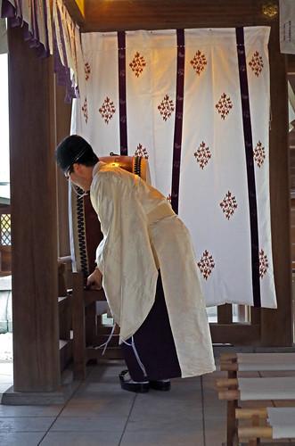 japan kyushu kumamoto yatsushiro shrine priest