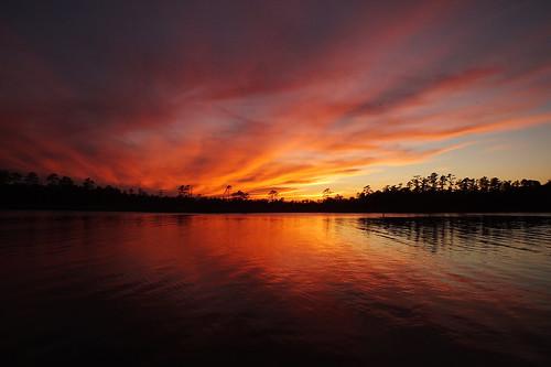sunset spectacularsunsetsandsunrises cloudsstormssunsetssunrises cloudscape creek fairfieldharbour northcarolina finepix fujifilm hs30exr forest