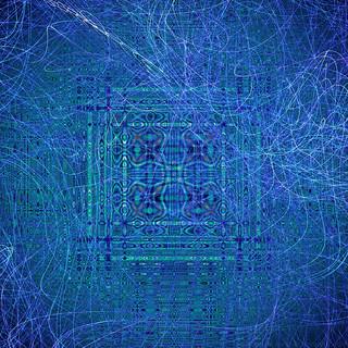 Mandala deep blue flame background