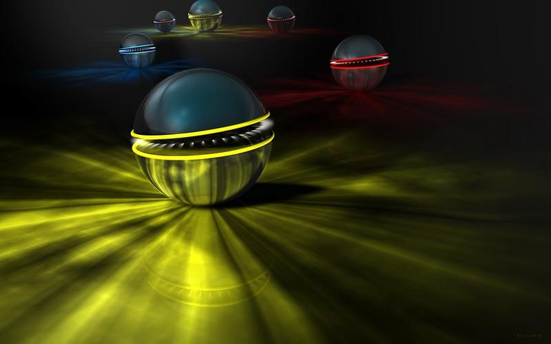 Обои шары, свет, красочный, тень картинки на рабочий стол, фото скачать бесплатно