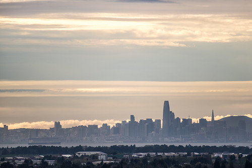 bayarea california nikon d810 color april 2019 boury pbo31 spring sanfrancisco city urban skyline sky oakland eastbay alamedacounty castrovalley over sunset sihouette salesforce orange transamerica