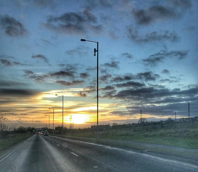 Sunset at Penshaw.....