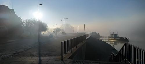 Fog over Sava river